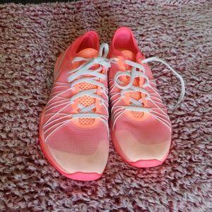 Pink Nike training shoes